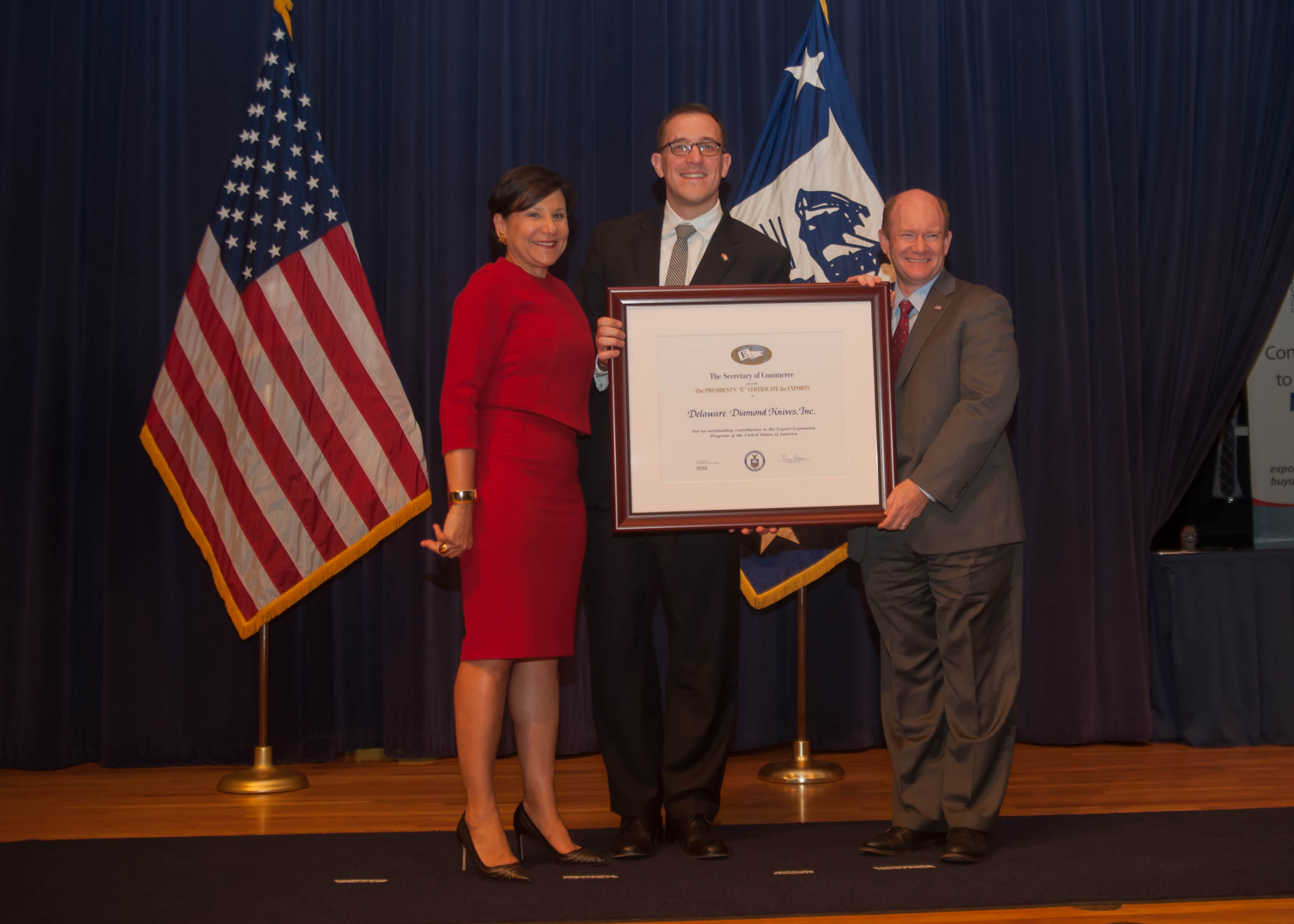 Delaware Diamond Knives honored by U.S. Secretary of Commerce for export achievements