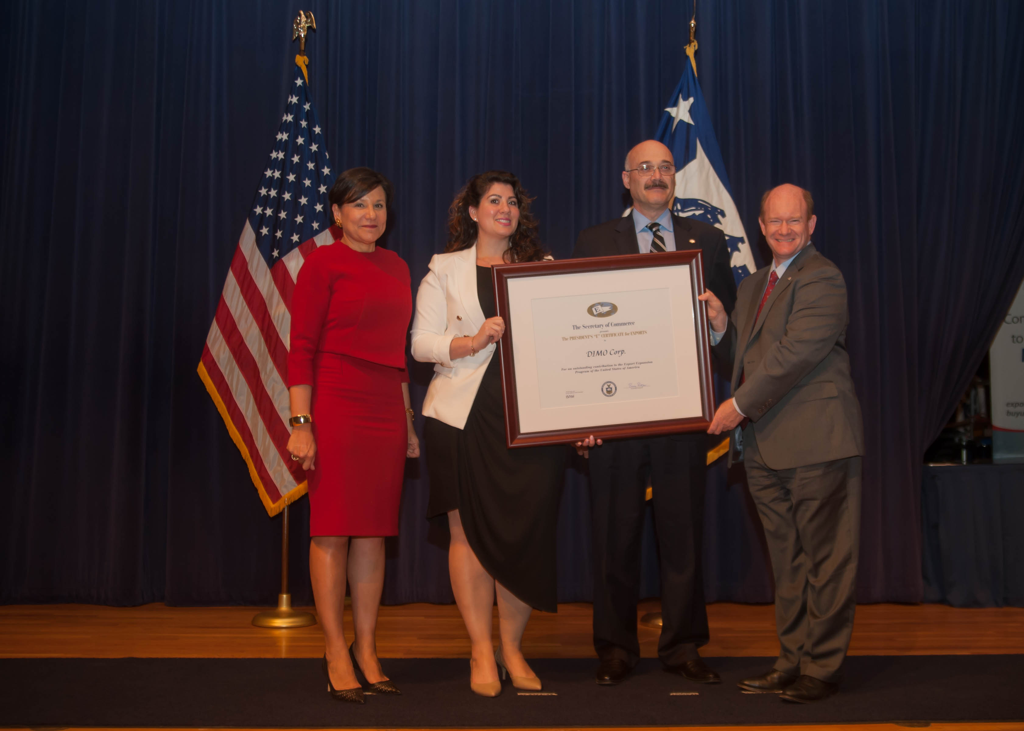 DIMO Corp honored by U.S. Secretary of Commerce for export achievements