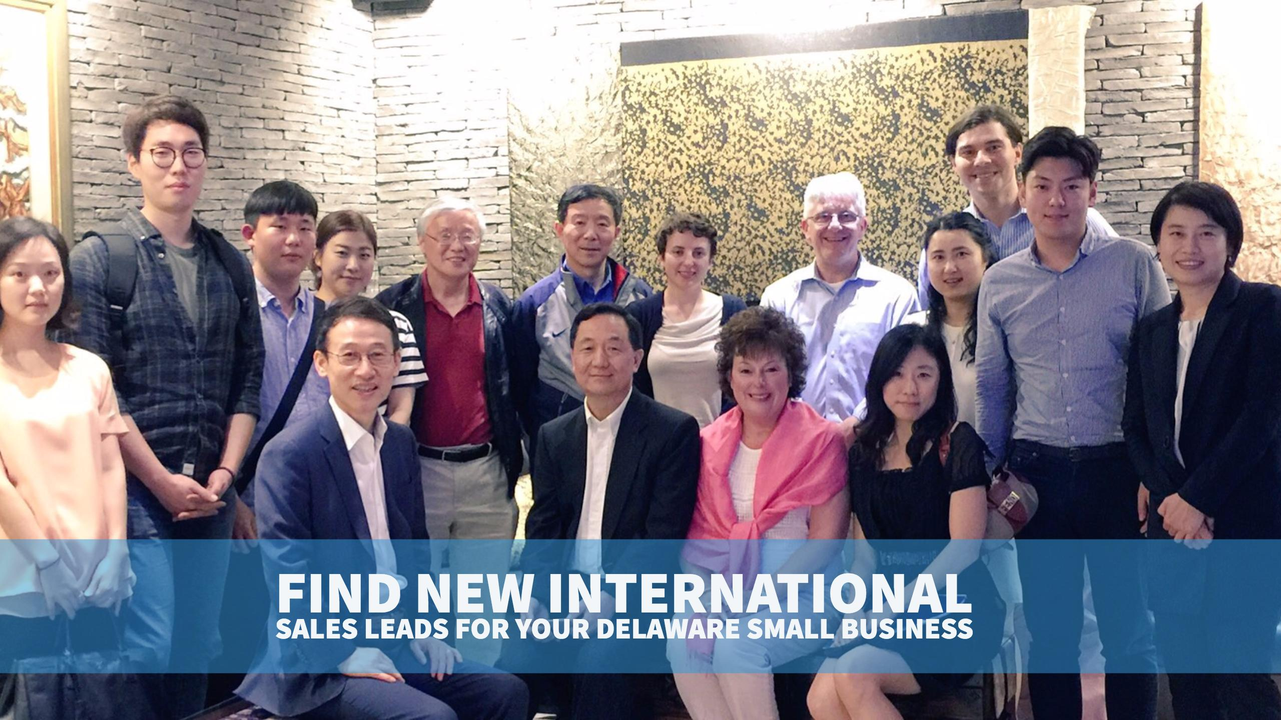 Find new international sales leads for your Delaware small business