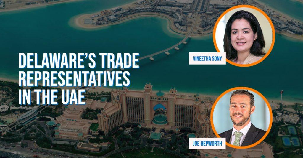 Delware's trade representatives in the UAE